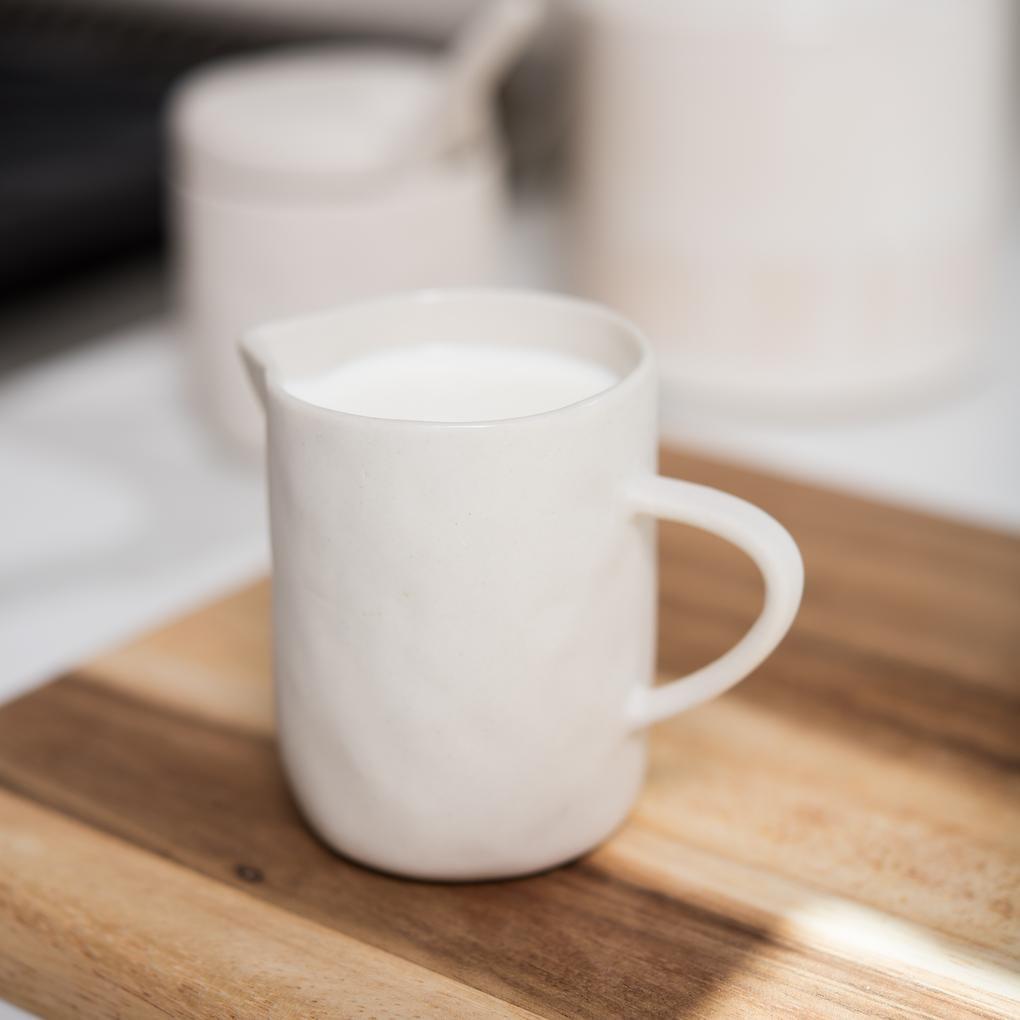 Beige Stoneware Creamer