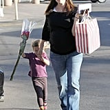 Jennifer Garner and Seraphina Affleck were out and about.