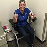 """One of my last of 100 blood draws during IVF and previous treatments!"""
