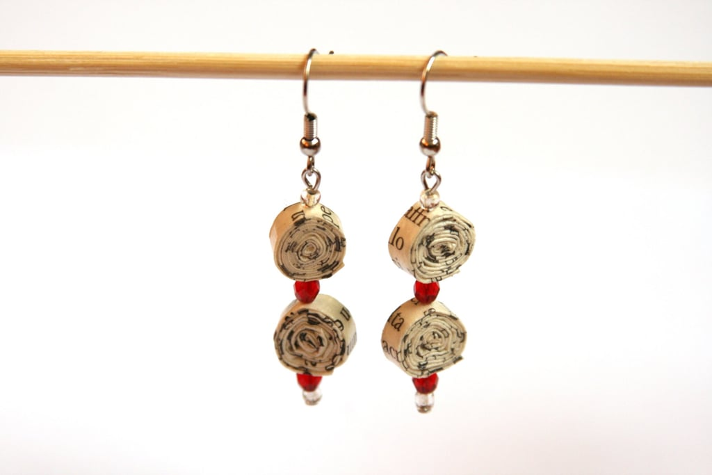 Book Page Earrings