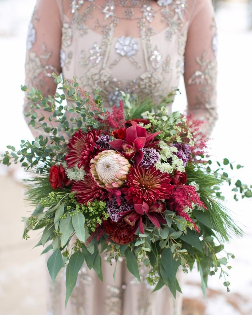 Winter Wedding Bouquets.Winter Wedding Bouquets Popsugar Home