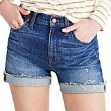 Madewell High-Rise Cuffed Denim Shorts
