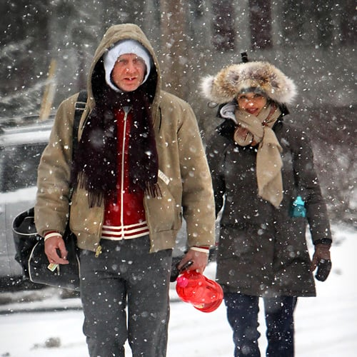 Daniel Craig and Rachel Weisz in NYC Snow Storm (Pictures)