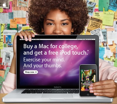 Free iPod Touch With Mac Purchase For Students