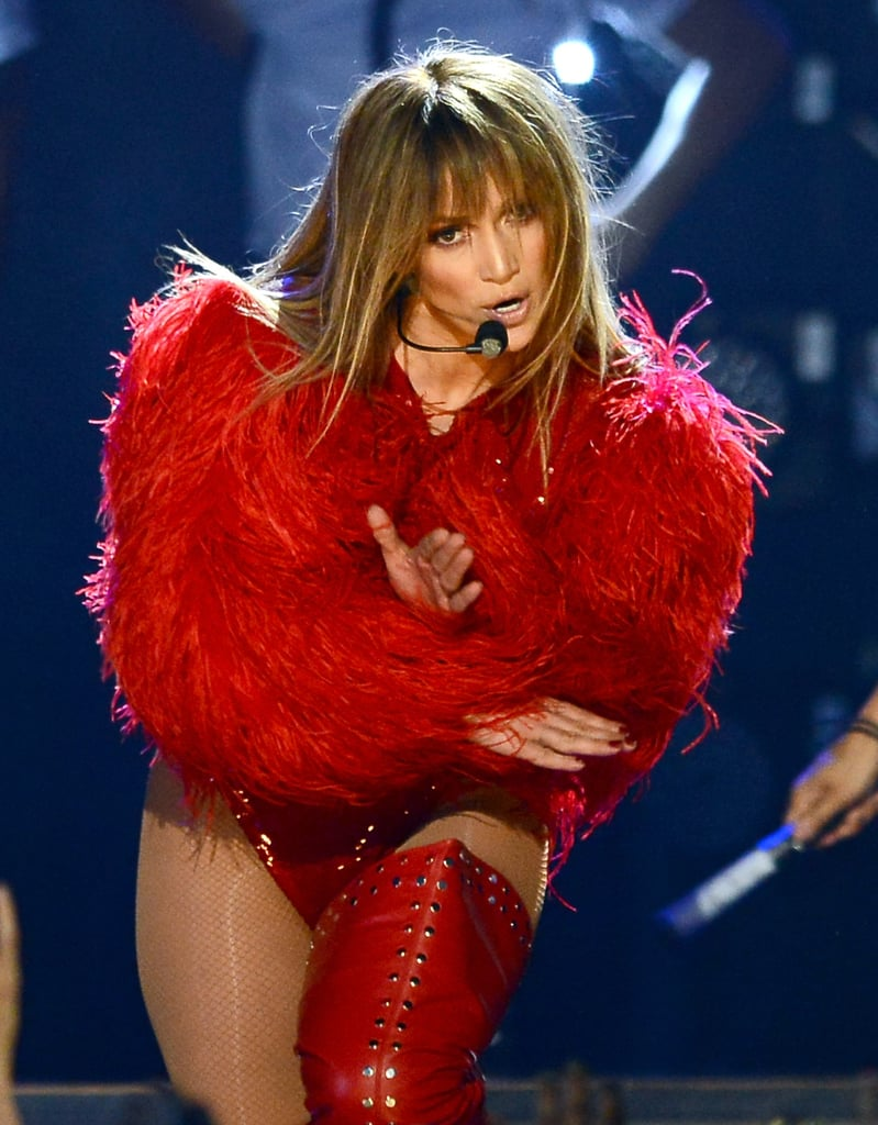 Jennifer Lopez performed at the Billboard Music Awards.