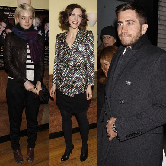 Pictures of Jake Gyllenhaal, Carey Mulligan, and Maggie Gyllenhaal at Three Sisters in NYC