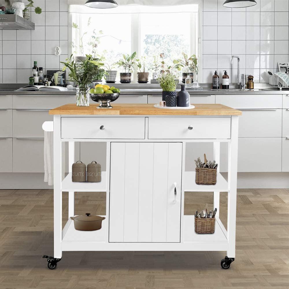 ChooChoo Kitchen Cart on Wheels With Wood Top | 25 Kitchen ...