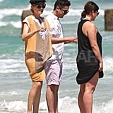 Diane Kruger on the beach in Miami.