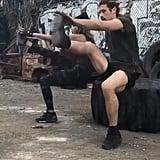 Triceps Dip and Kick