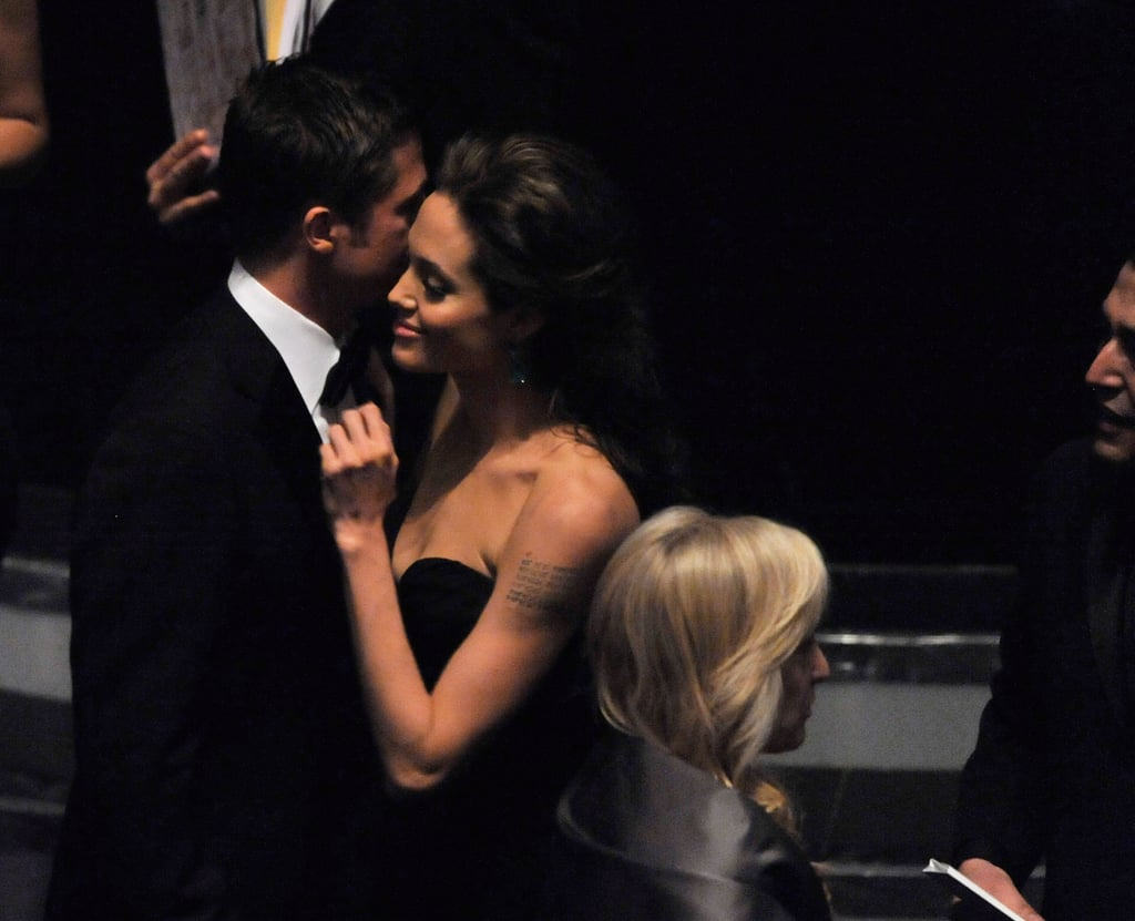 The couple stuck close inside during the February 2009 Academy Awards.
