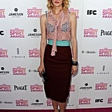 Laura Dern on the red carpet at the Spirit Awards 2013.