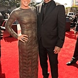 Carey Hart and Pink arrived at the VMAs together.