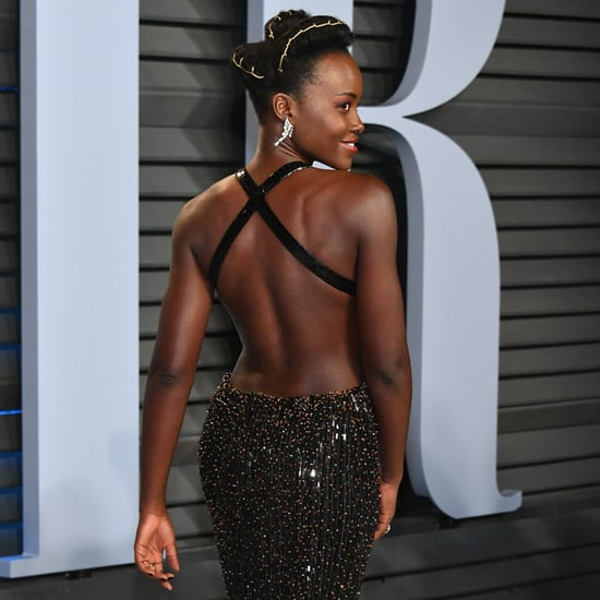 Lupita Nyong'o Armani Dress at Oscars Afterparty 2018