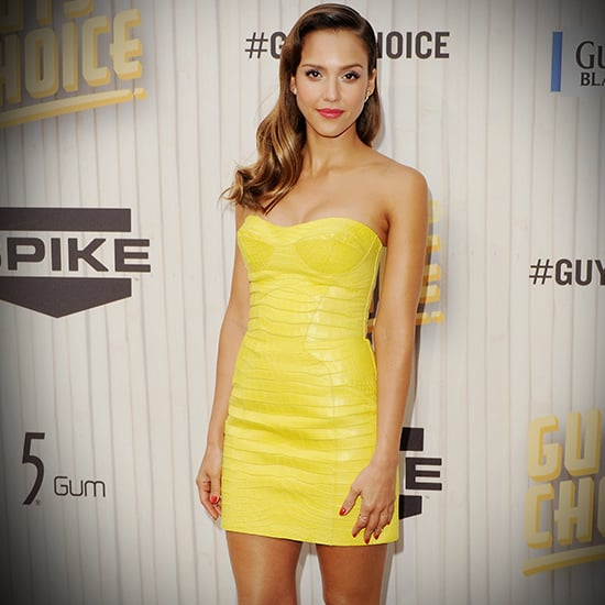 Jessica Alba in Yellow Dress at Spike TV Guys Choice Awards
