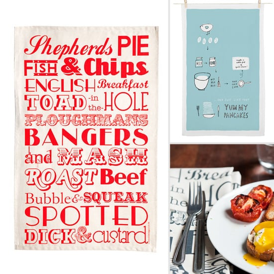 Tea Towels Printed With Tasty Favorites