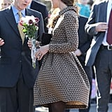 Kate Middleton wore Orla Kiely.