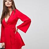 Fashion Union Kimono Wrap Mini Dress