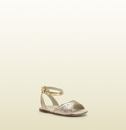 Gold Sparkle Sandal ($265)