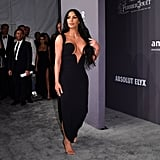 Kim and Kourtney Kardashian Black Dresses amfAR Gala 2019