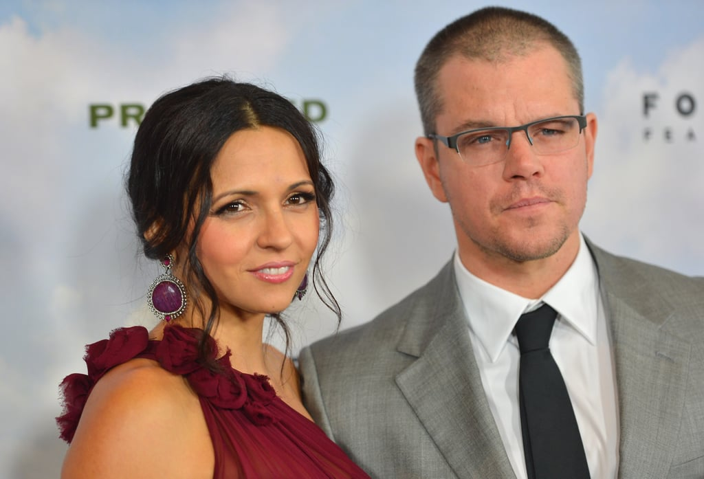 Matt Damon and his wife, Luciana, hit the red carpet.