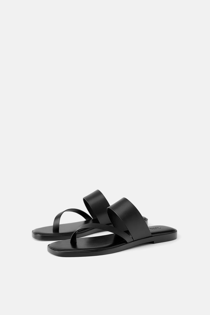 425786fd7a8 Zara Flat Leather Sandal