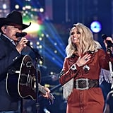 Pictured: George Strait and Miranda Lambert