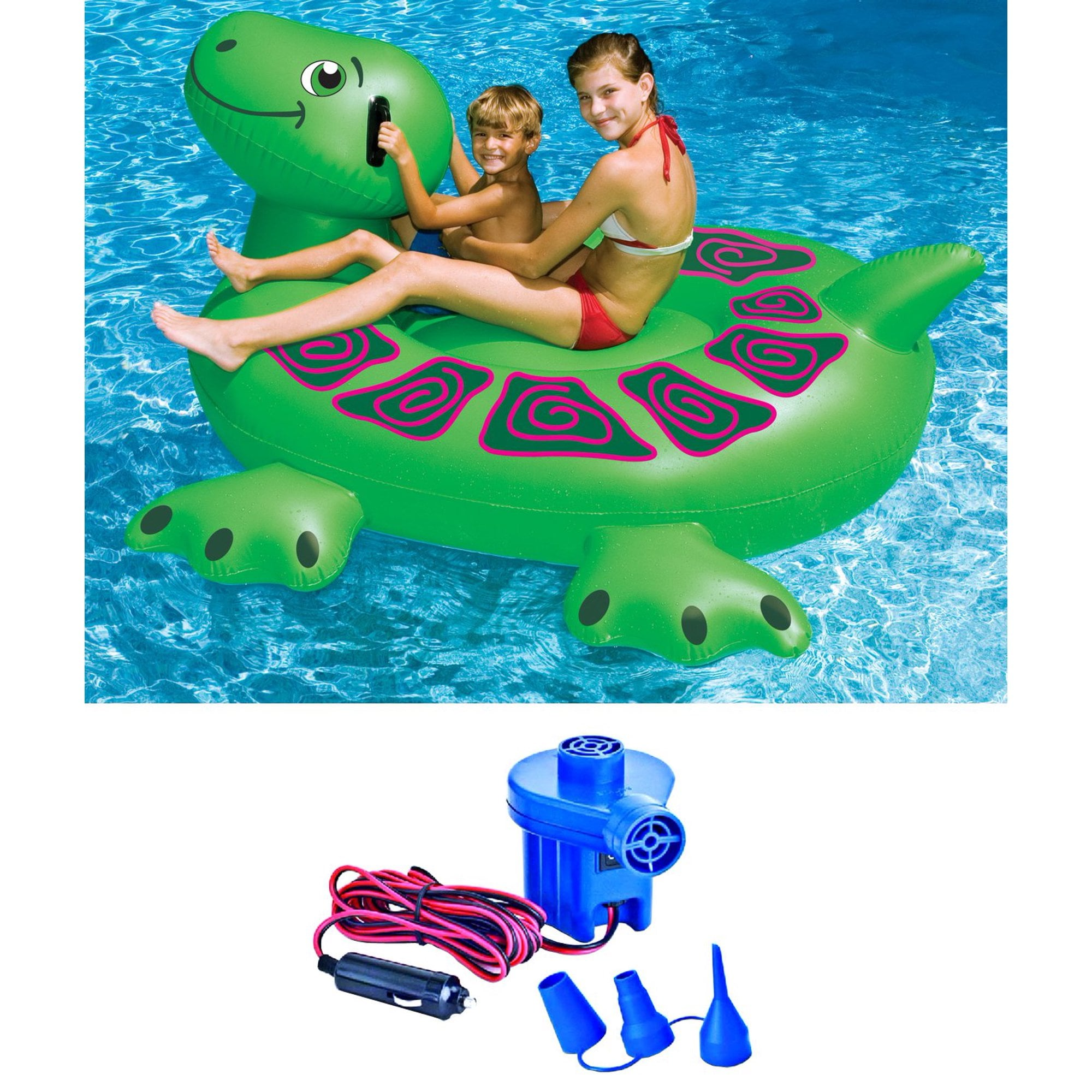 Swimline Pool Kids Inflatable Rideable Turtle Float 7 | 15 ...