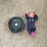 Baby vs. Roomba.