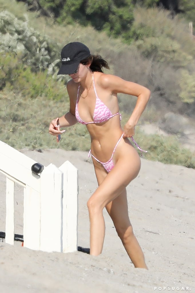 Kendall Jenner Wearing Her Frankies Bikinis Swimsuit in Malibu, CA