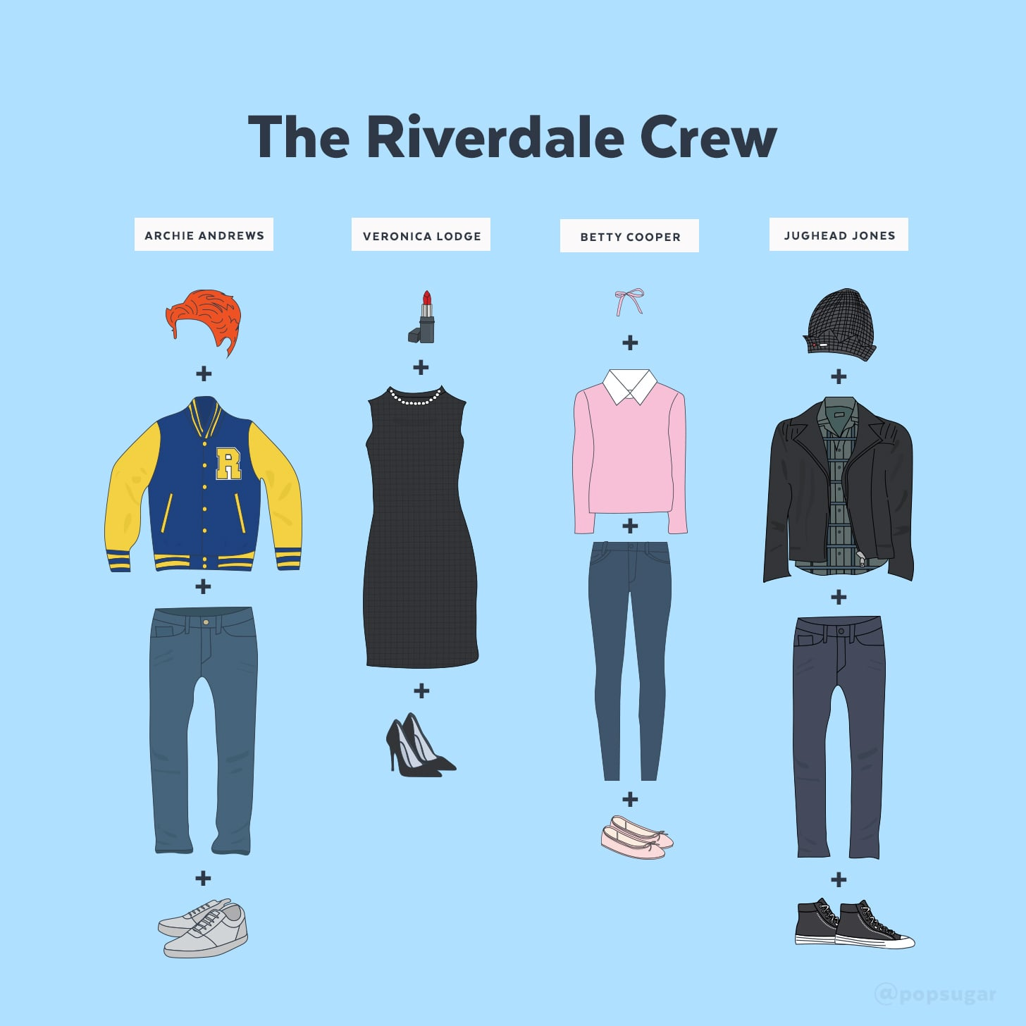 the riverdale crew is one of the easiest most recognizable pop culture group costumes to sport for halloween the buzzy cw show has won over fans with its