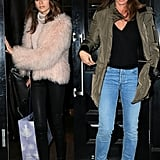 Cindy Crawford and Kaia Gerber Wearing Chic Winter Layers in 2017