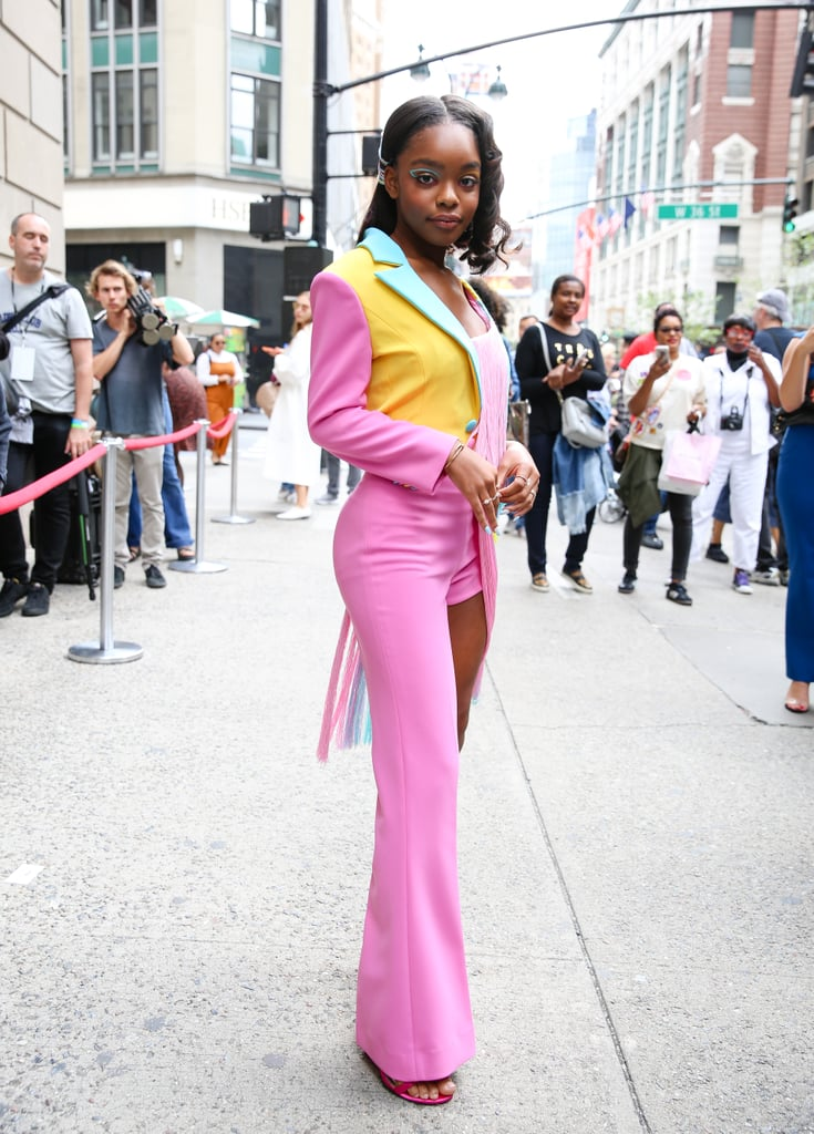 Marsai Martin's Colourful Graphic Eyeliner at NYFW