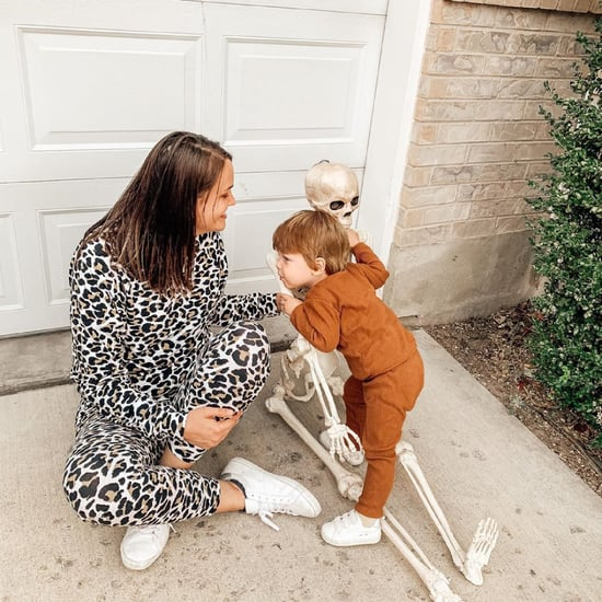 Funny Toddler Brings 5-Foot Decorative Skeleton Everywhere