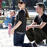 Amy Adams Swings the Day Away With Darren and Adorable Aviana