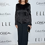 Susan Sarandon opted for a sophisticated suit in classic black.