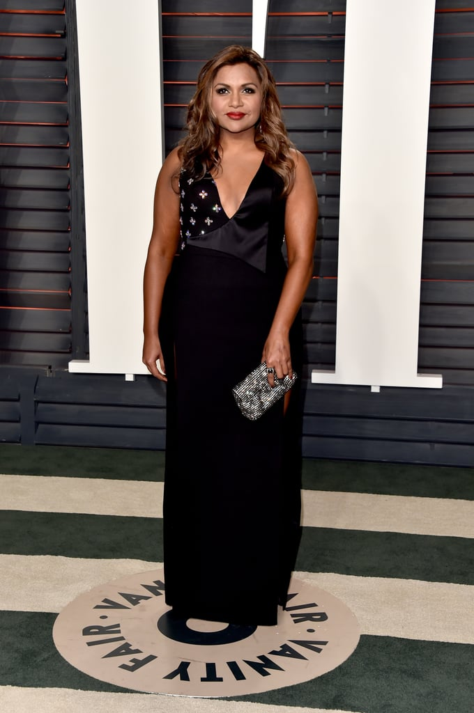 Wearing a custom design by Salvador Perez for the Vanity Fair Oscars afterparty in 2016.