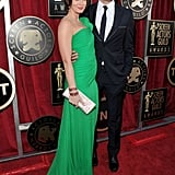 John Krasinski and Emily Blunt Bring Color to the SAGs Red Carpet