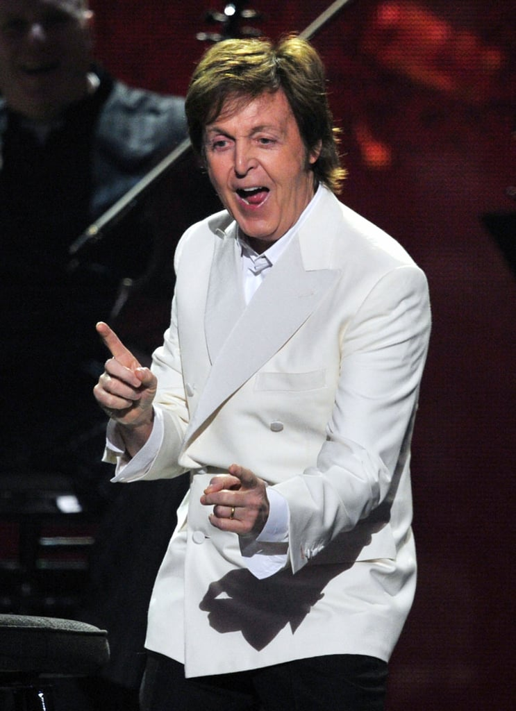 Paul McCartney performed at the Grammys.