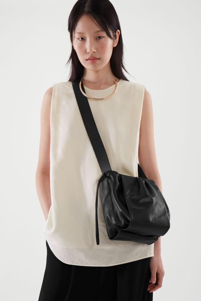 COS Leather Bucket Bag