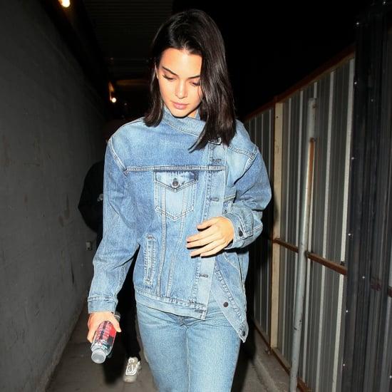 Kendall Jenner Deconstructed Denim Jacket