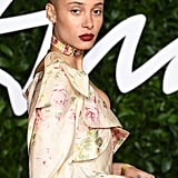 Adwoa Aboah at the British Fashion Awards 2019 in London