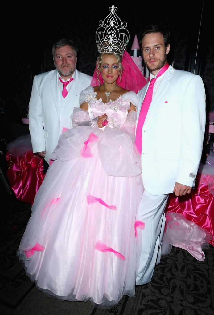 Kyle Sandilands, Jackie O and Lee Henderson posed at Kyle & Jackie O's Big Fat Gypsy Wedding, where Jackie and Lee renewed their vows on August 31.