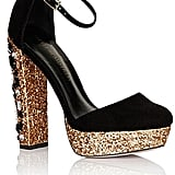 Simply Be Black and Gold Mary Jane Glitter Platform (£68)