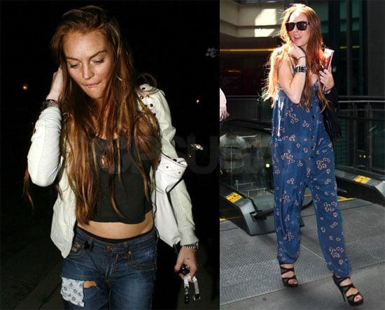 Lindsay Lohan in Blue