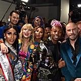 Taylor Swift, Todrick Hall, John Travolta, and Jesse Tyler Ferguson at the 2019 MTV VMAs