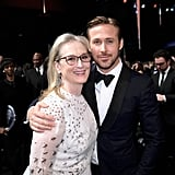 Pictured: Ryan Gosling and Meryl Streep