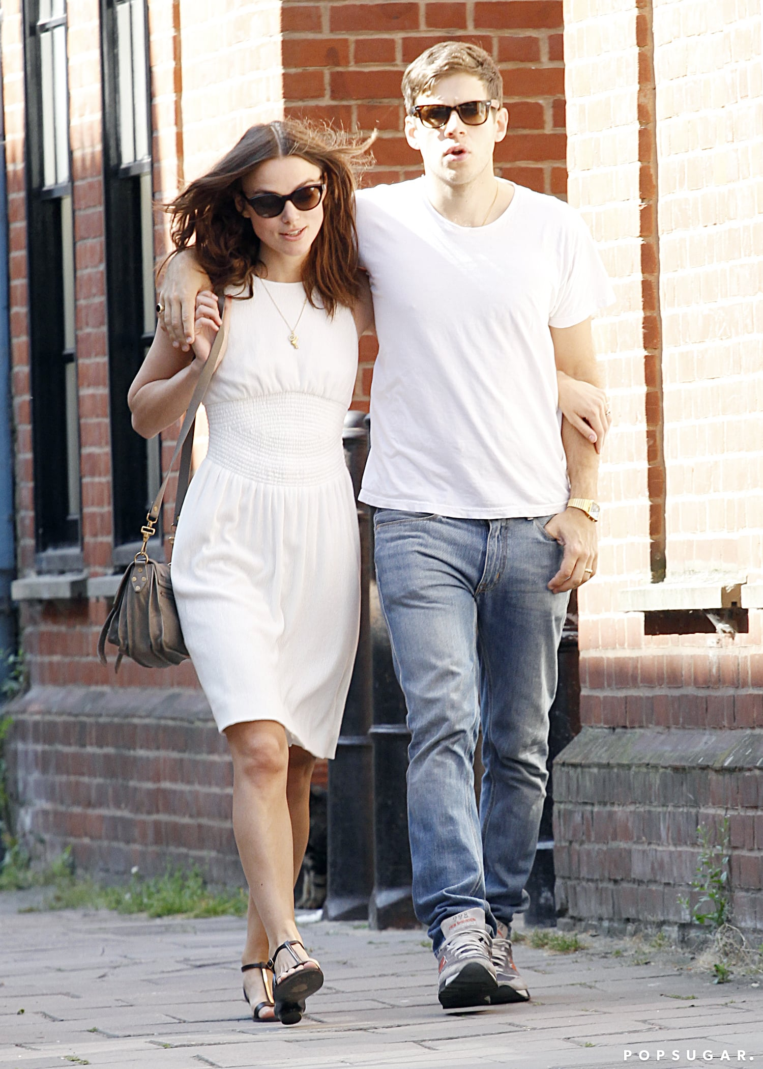 Keira Knightley and James Righton took a walk in London.
