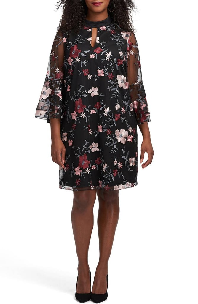 ECI Floral Embroidered Mesh A Line Dress | Princess