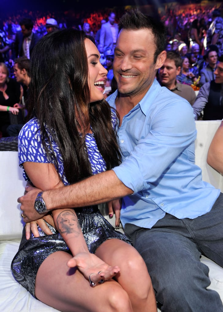 Megan and Brian were all smiles while hanging at the Teen Choice Awards in August 2010.
