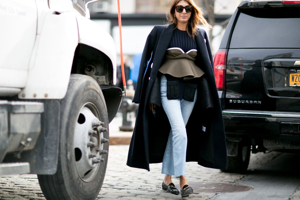 With Layered Tops and Loafers